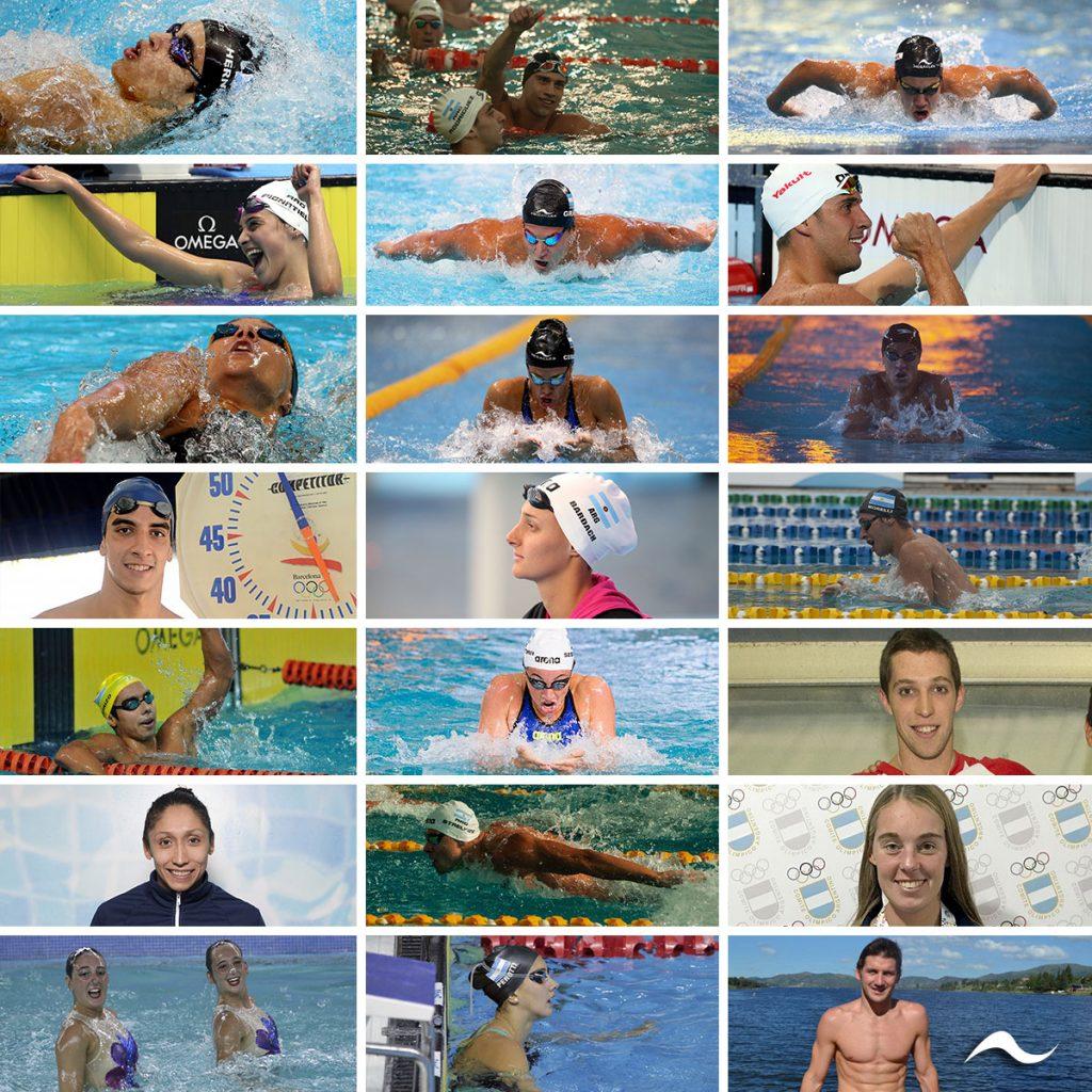 Los representantes de la Selección Argentina de Natación, Aguas Abiertas y Nado Sincronizado clasificados para competir en los próximos Juegos Panamericanos Lima 2019.