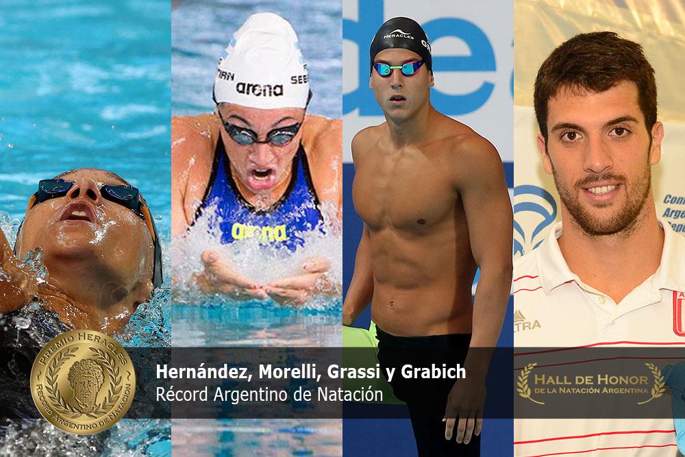 Berrino, Sebastián, Grassi y Grabich: Premio Heracles de Natación